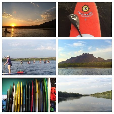 Collage of Paddle boarding experience