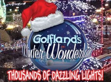 Golfland Sunsplash Winter Wonderland Christmas Lights