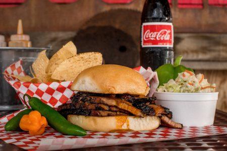 Jalapeno Bucks BBQ sandwich dinner