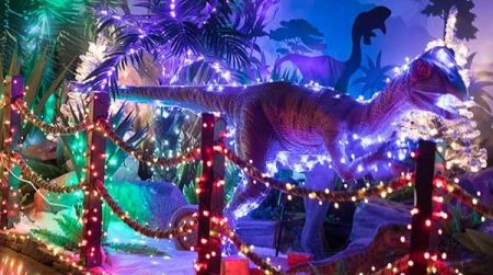 Pangea Land Dinosaur Jurassic Winter wonderland Christmas Lights