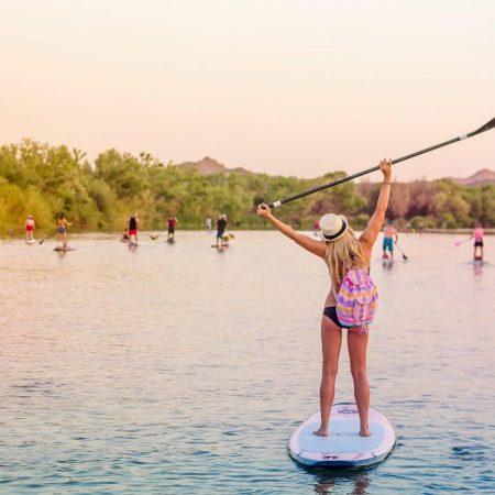Paddleboarding girl Salt River Instagram - Crowdriff
