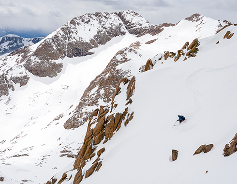 backcountry skiing weminuche