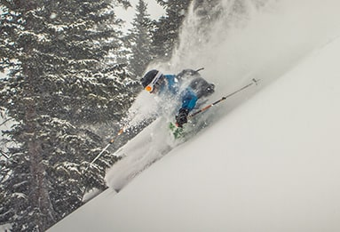backcountry lodge skiing