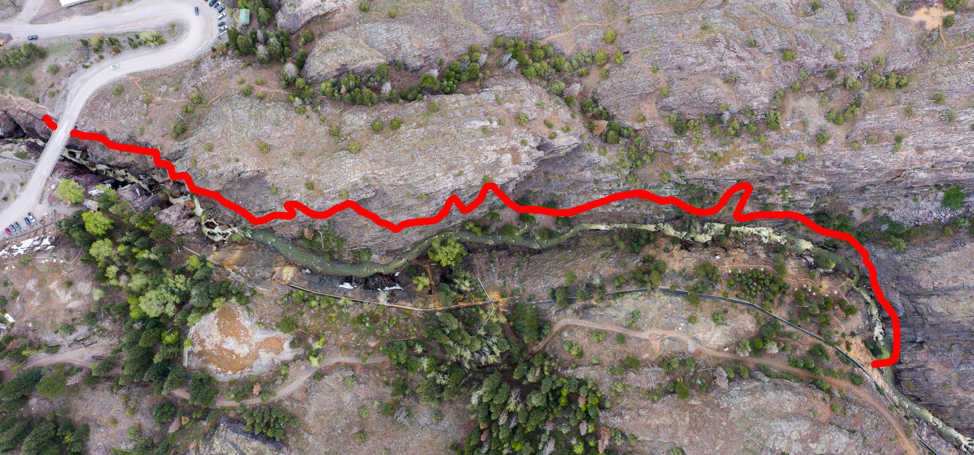 Ouray Via Ferrata route map