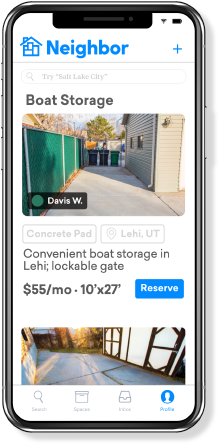 Boat Storage - Neighbor App