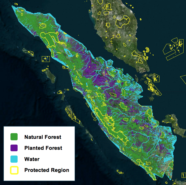 Land use classification of Sumatra