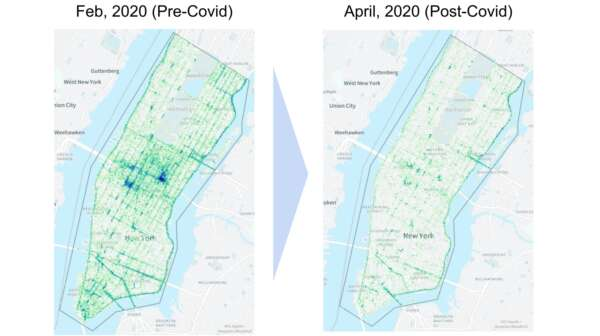 Manhattan heatmap