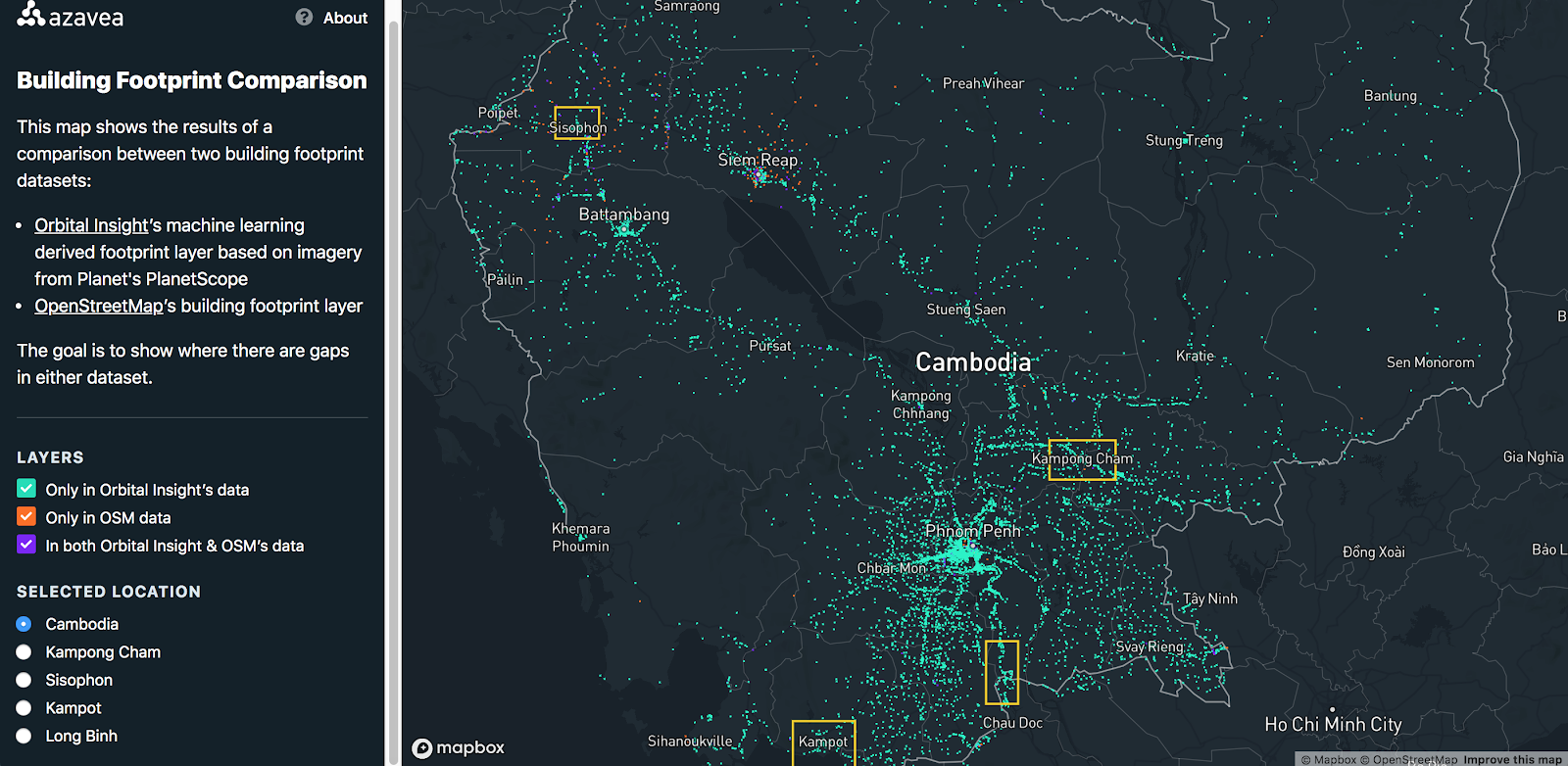 orbital insight versus open street map