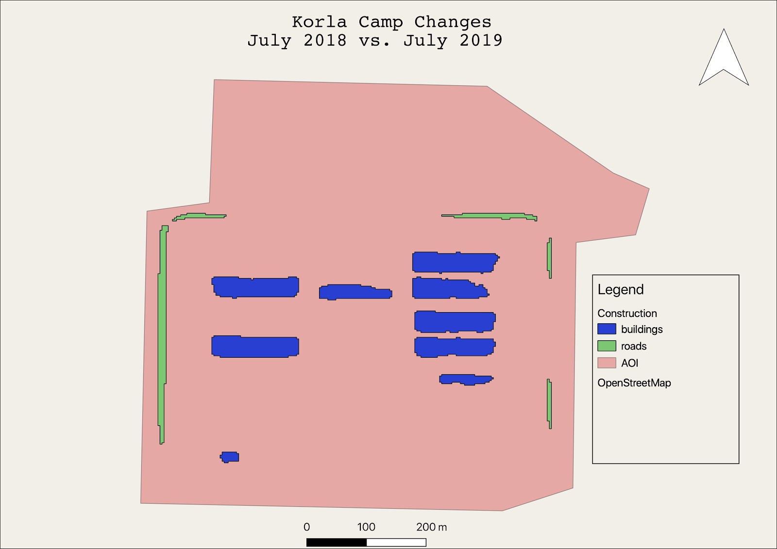 Korla re-education camp 2018 vs 2019
