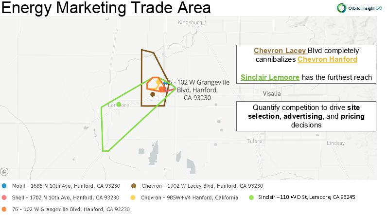 energy marketing trade area central california