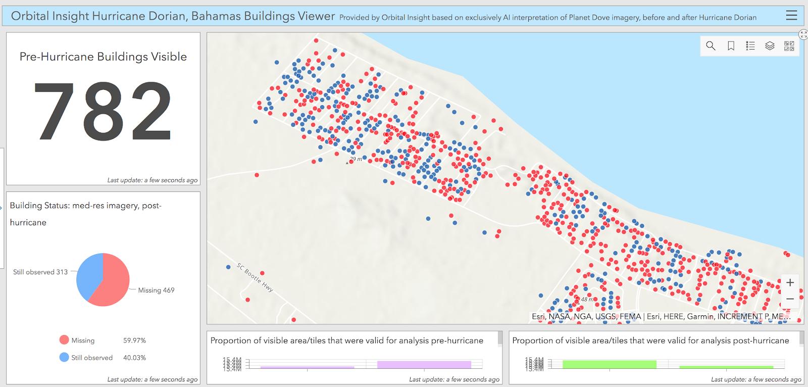 Hurricane Dorian Pre-Hurricane Buildings Visualization