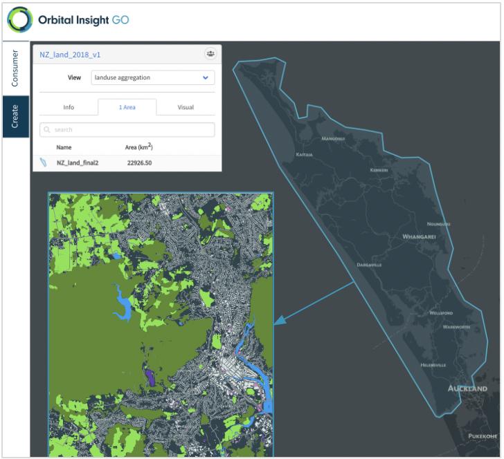 Orbital Insight GO land use mapping