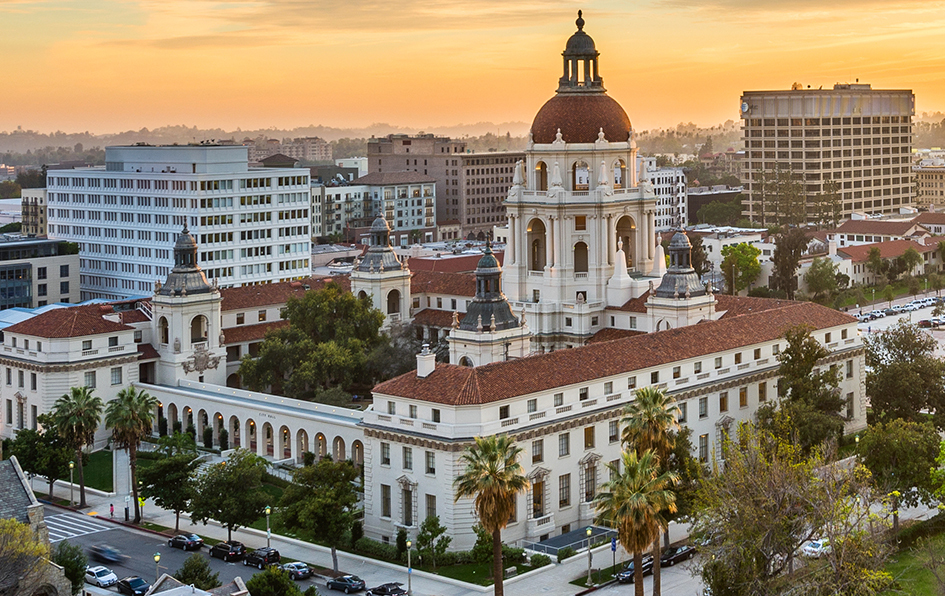 pasadena city hall, pasadena, california, city hall, pawnee, indiana, pawnee city hall, Beaux-Arts, architecture, city beautiful, movement, Mediterranean, revival, los angeles, historic, national register of historic places, landmarks, things to do in pasadena, things to do in LA, sunrise