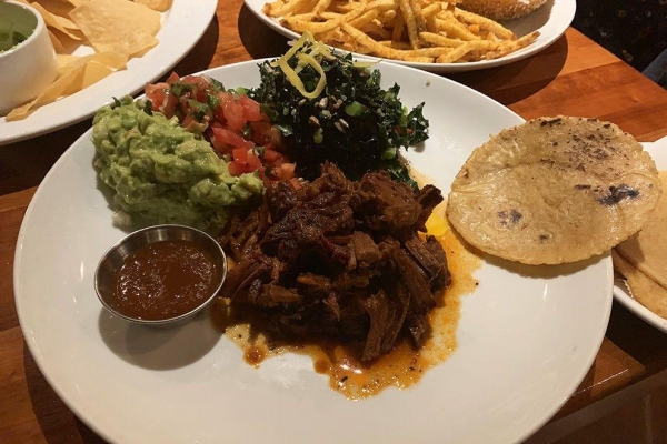 Short rib tacos at La Grand Orange, juicy and delicious