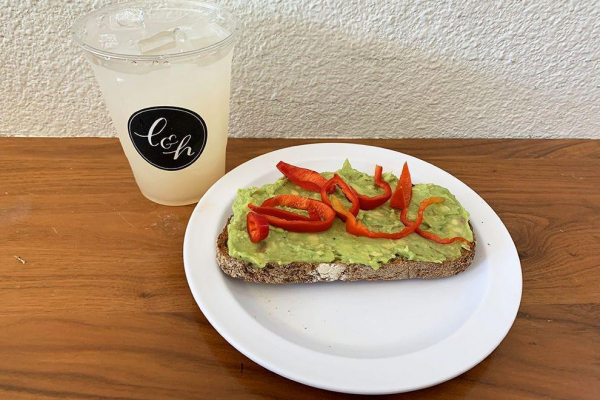 Avocado toast and lavender lemonade at Lavender and Honey was simple perfection