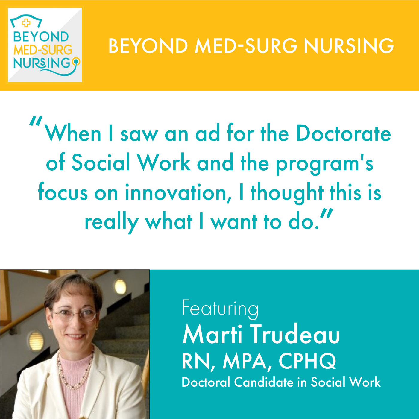 001: How Working in Home Care Inspired Marti Trudeau to Get a Doctorate in Social Work Image