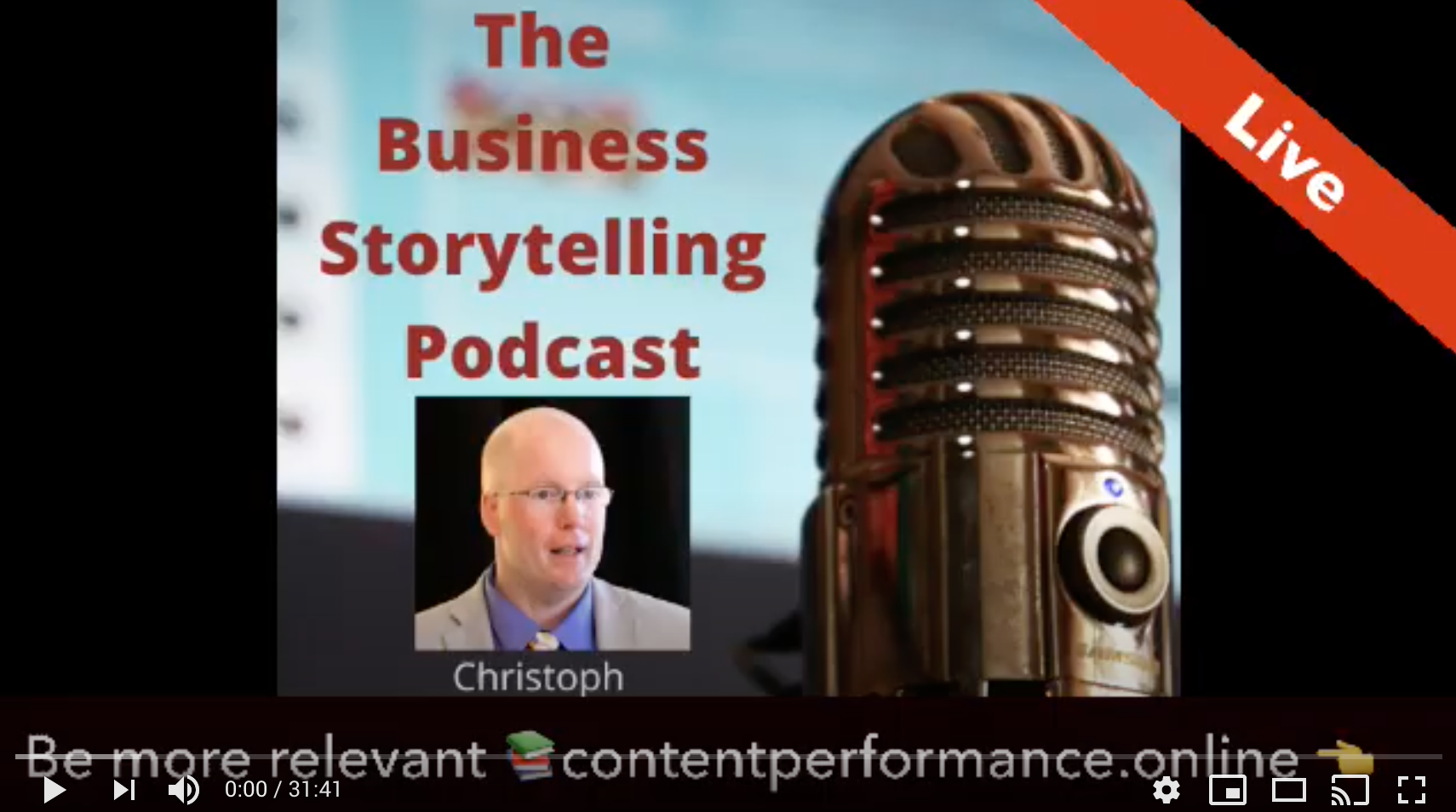 Image from Watch our interview on the Business Storytelling Podcast