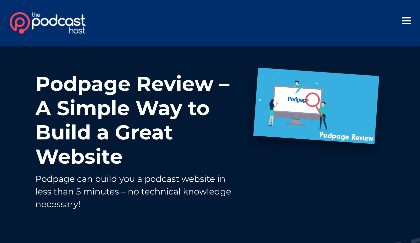 The Podcast Host reviewed Podpage! image