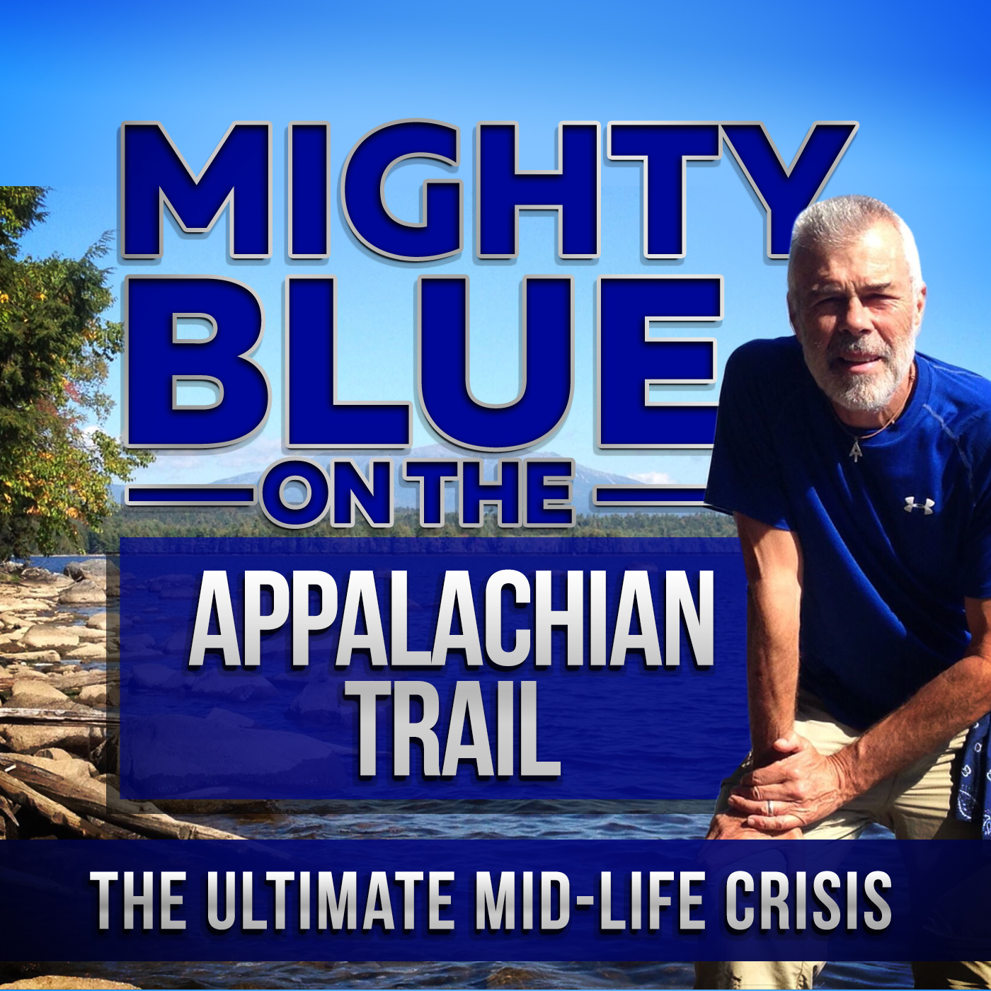 Mighty Blue On The Appalachian Trail: The Ultimate Mid-Life Crisis Logo