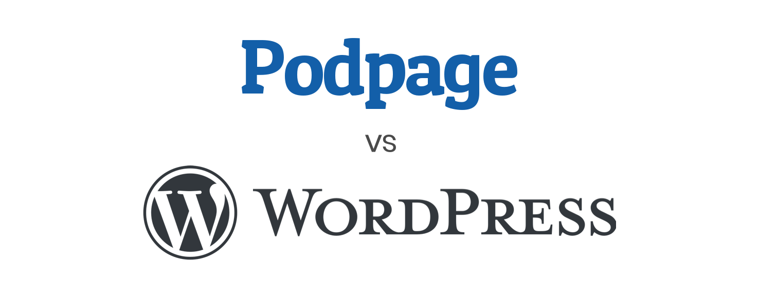 Image from Comparing Wordpress and Podpage