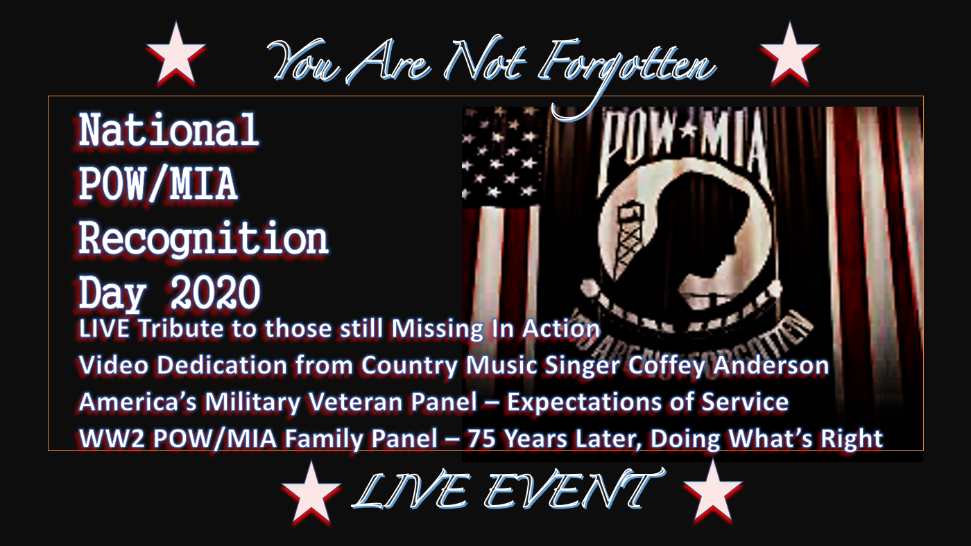 LIVE EVENT || National POW/MIA Recognition Day || 2020