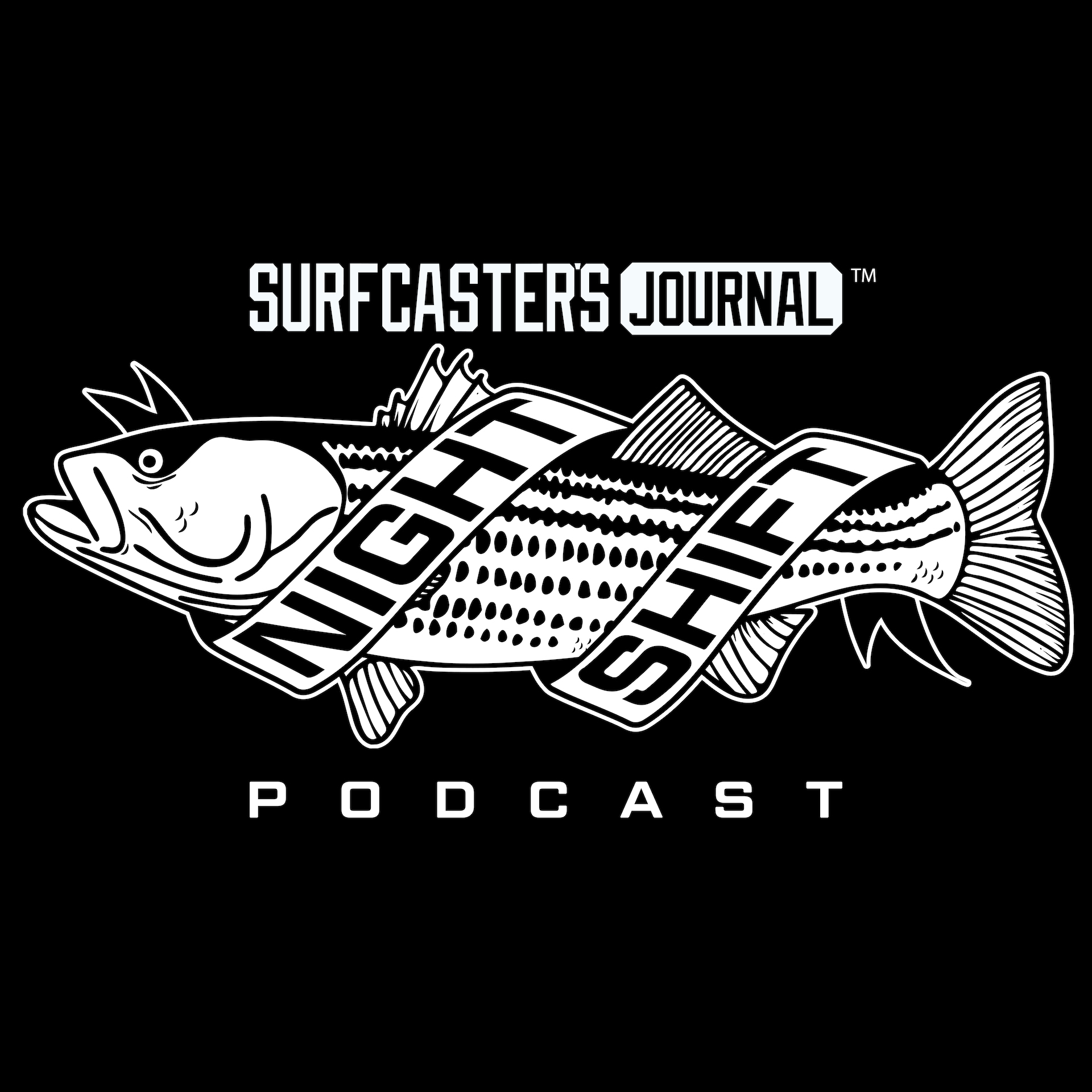 Surfcaster's Journal Night Shift Podcast Logo