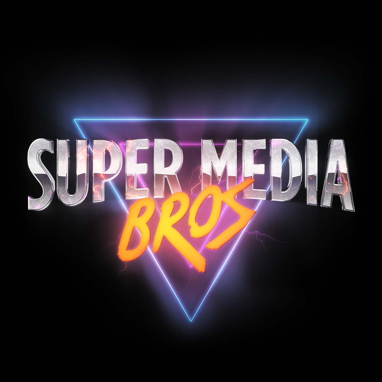 Super Media Bros Podcast Logo
