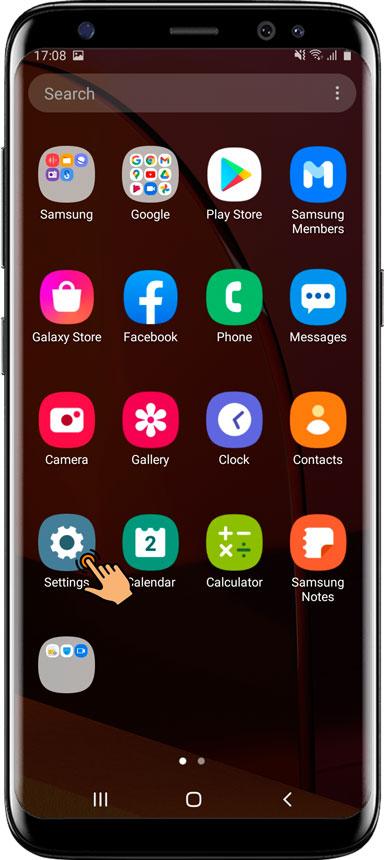 Ajustes esenciales / Aplicación de protección para Samsung Android 10