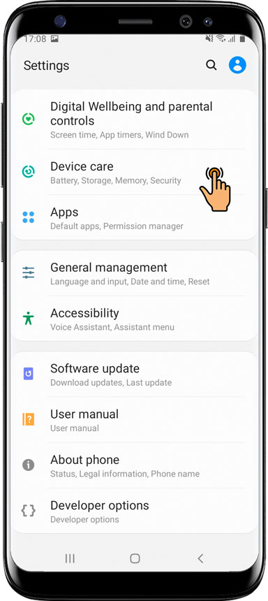 Essential settings / Protect app for Samsung Android