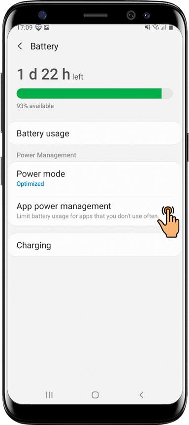Ajustes esenciales / Aplicación de protección para Samsung Android