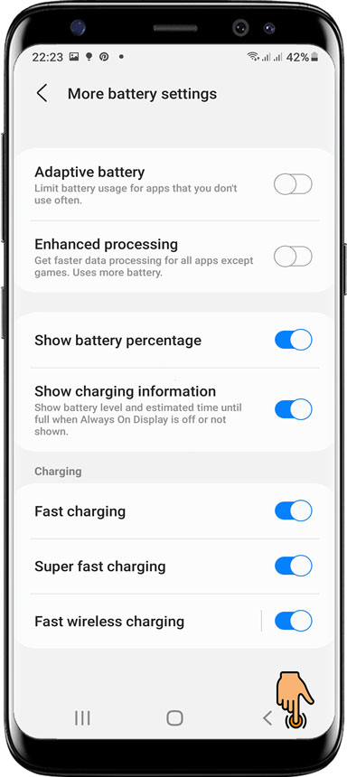 Essential settings / Protect app for Samsung Android 11