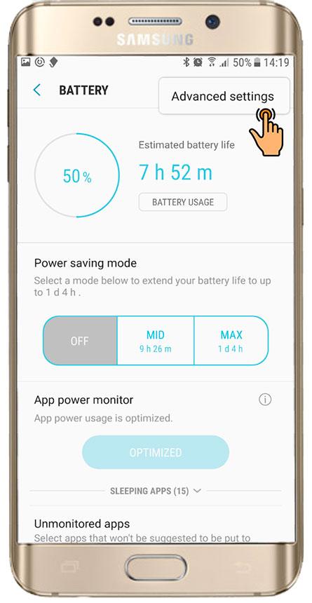Configurações essenciais / Aplicativo de proteção para Samsung Android 7