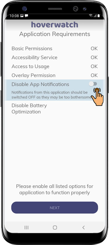 Turn ON Disable App Notifications