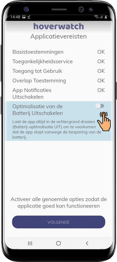 Hoe Hoverwatch voor Android te installeren