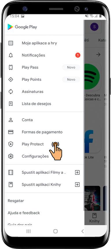 Desativar o serviço Play Protect do Google