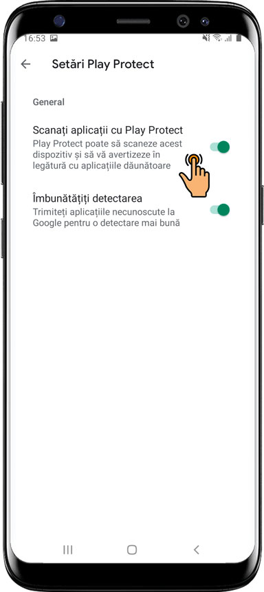Cum se dezactivează serviciul Google Play Protect