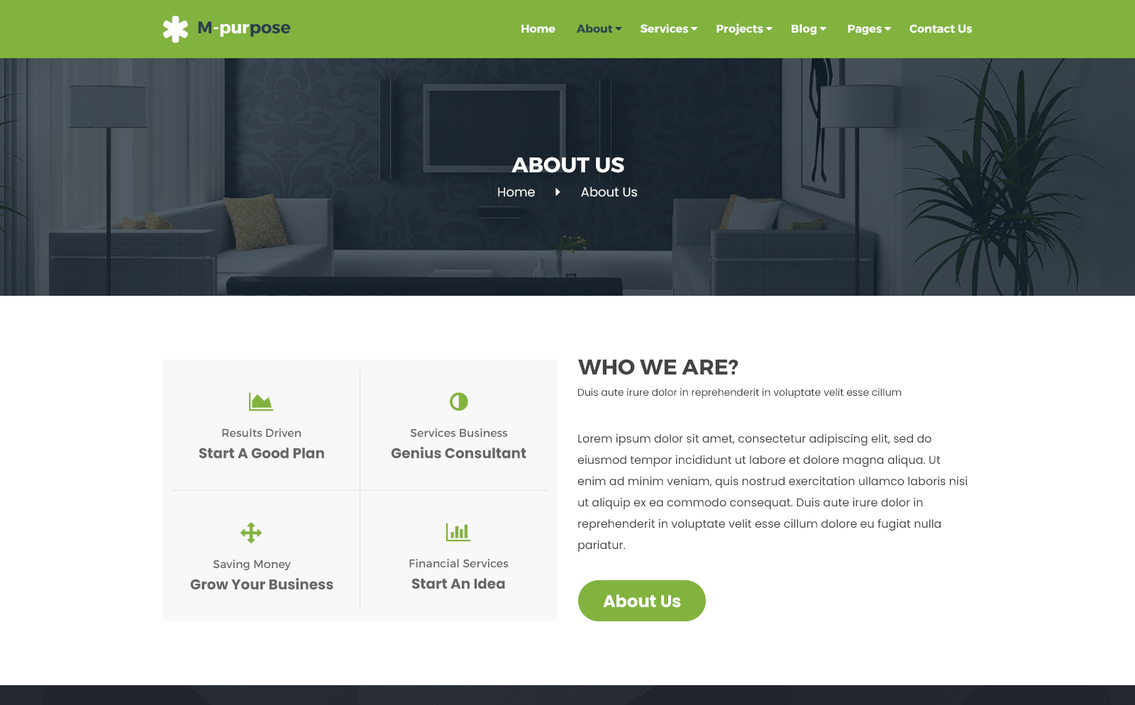 M-purpose - Creative Multipurpose PSD Template