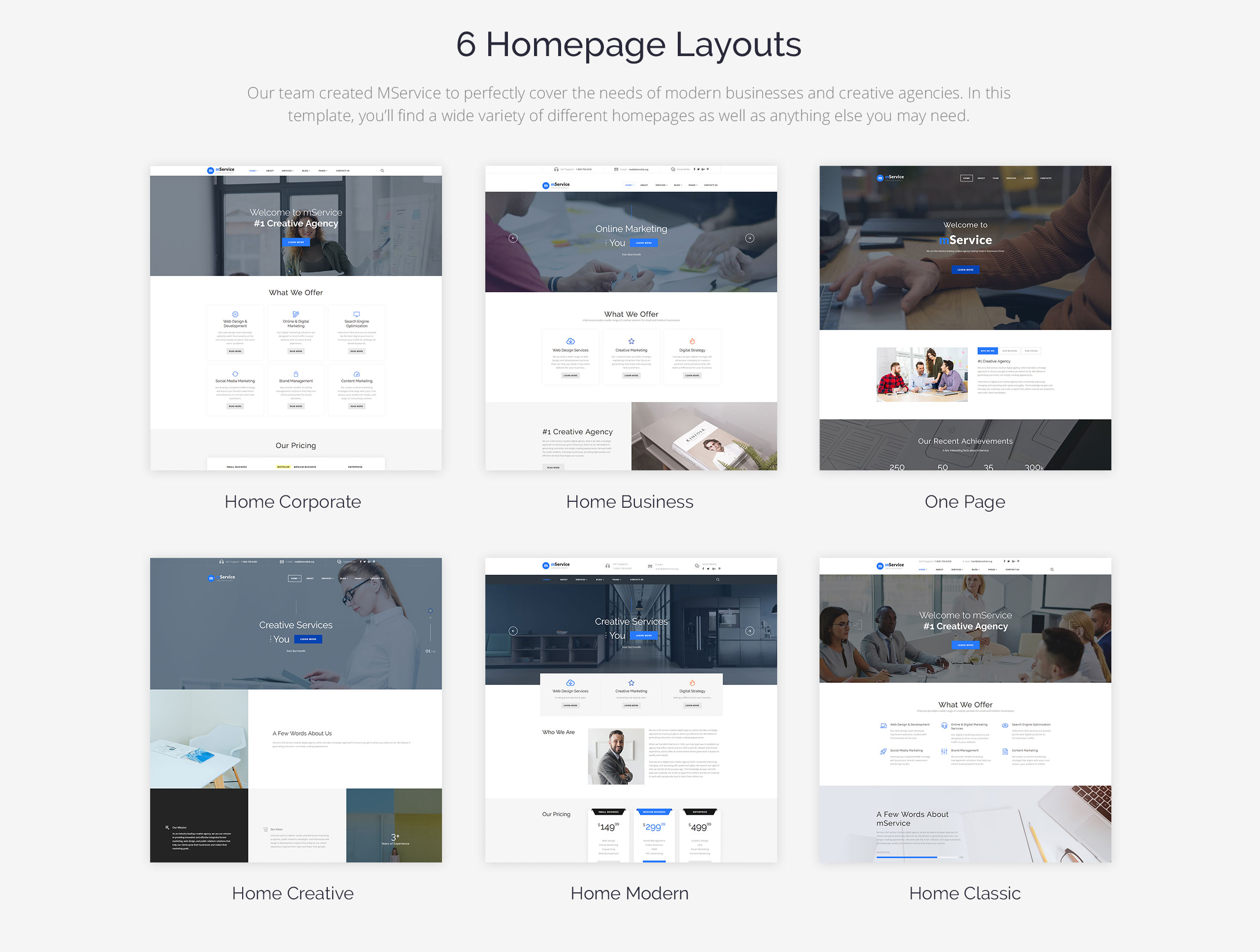Mservice Website Template