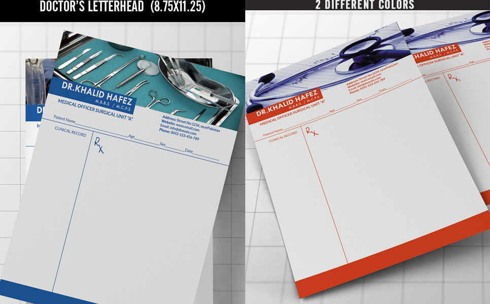 Doctor/Hospital Letterhead Corporate Identity