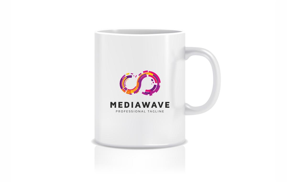 Media Wave Circle Logo Template