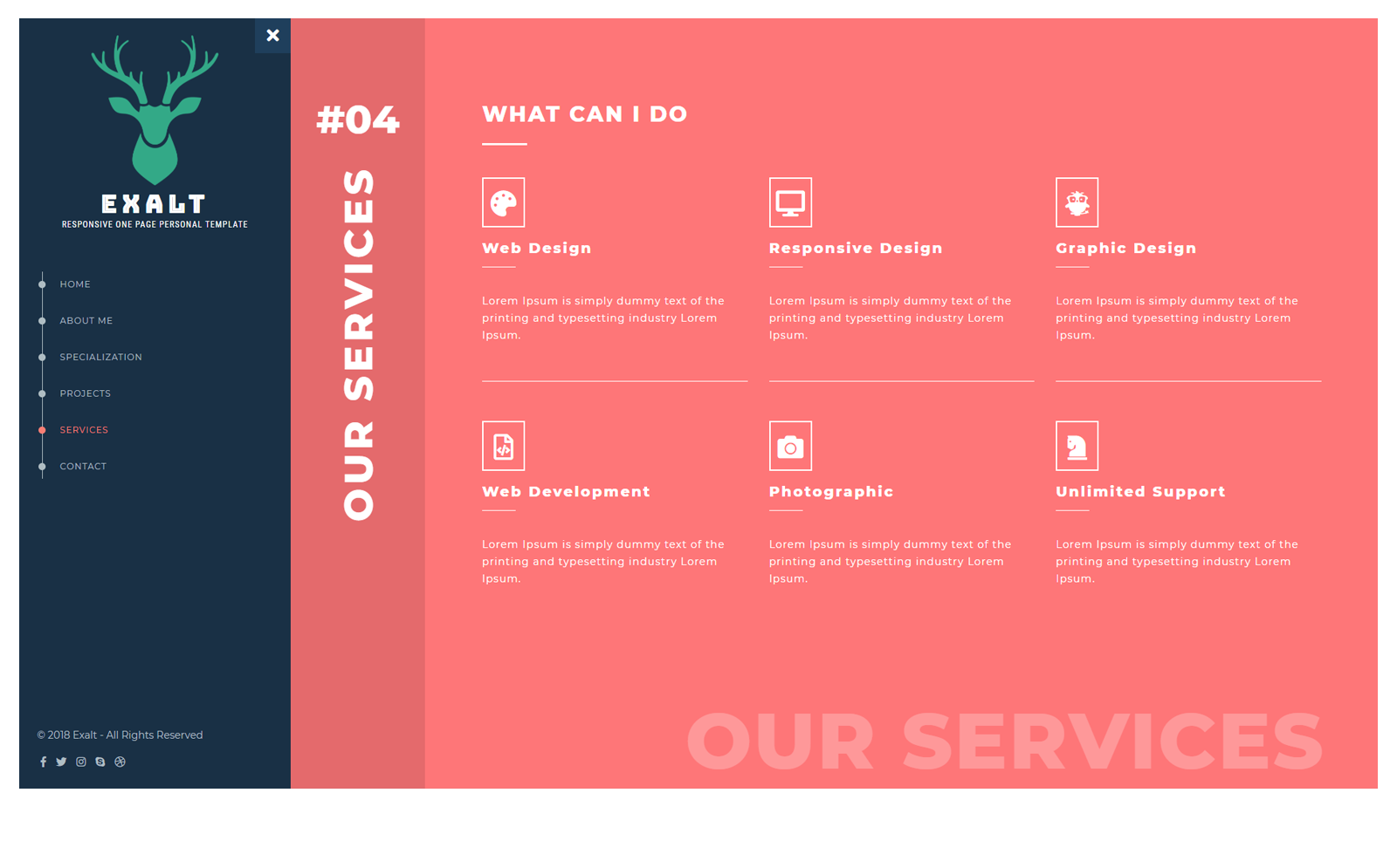 template 70580   exalt responsive landing page template website