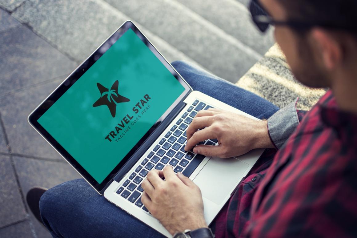 Travel Star Logo Template