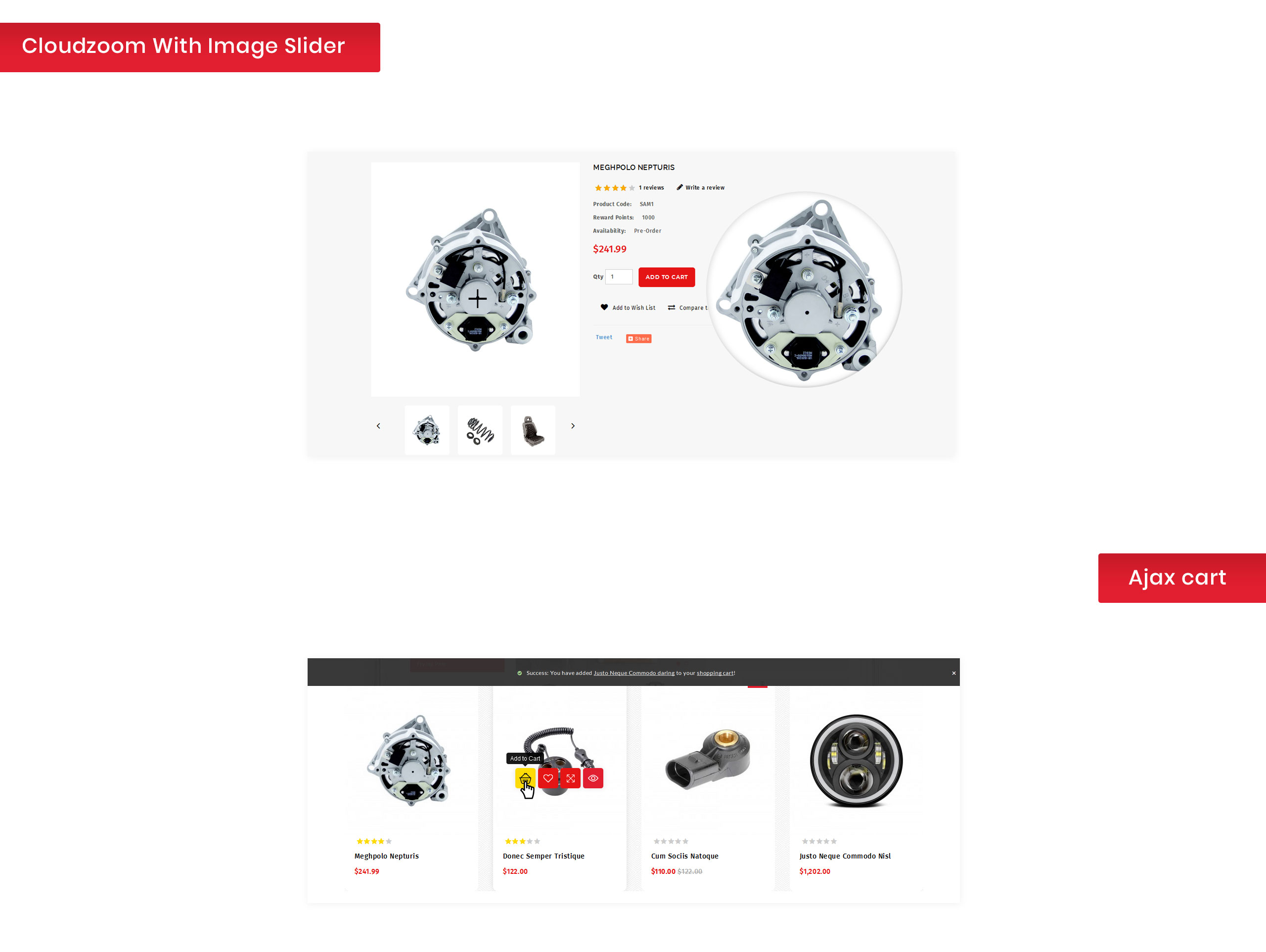 AutoCart - Spare Parts Store OpenCart Template