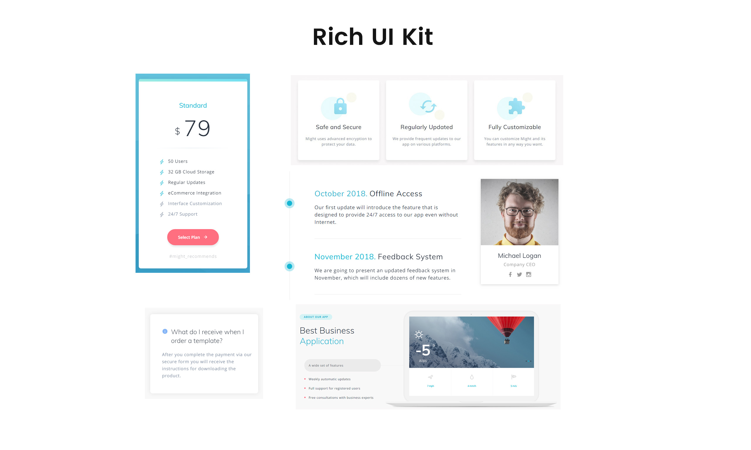 Might - Delicate Web Application HTML Landing Page Template