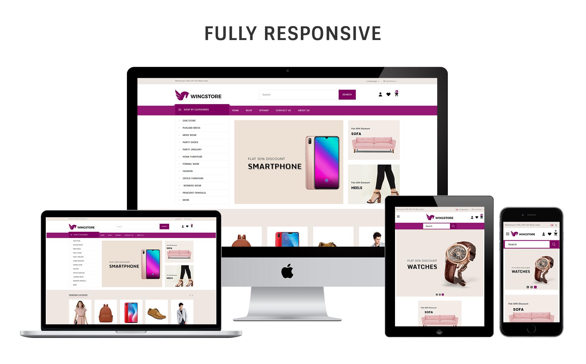 Wingstore - Mega Shop Responsive OpenCart Template