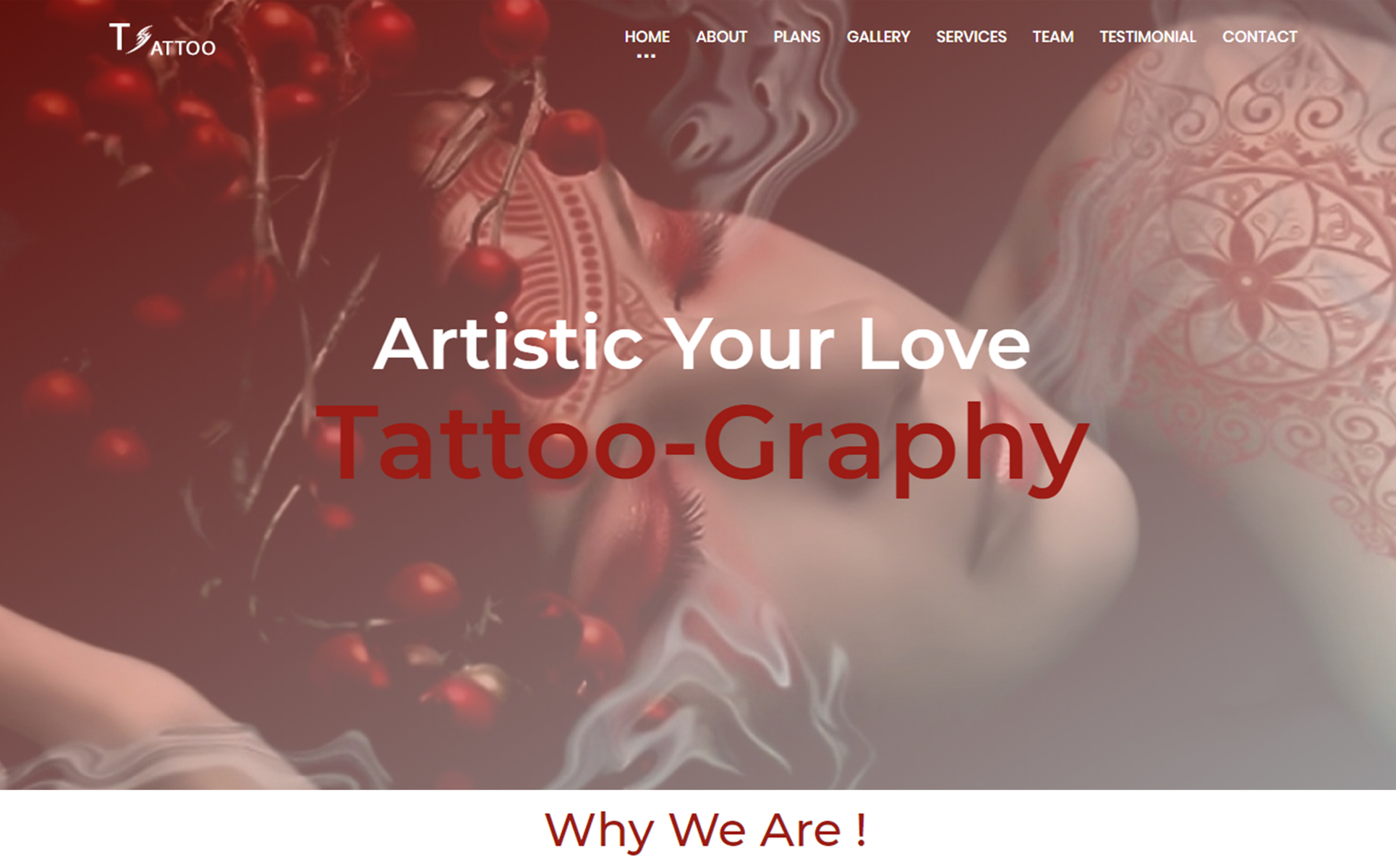 Tattoo Landing Page Template