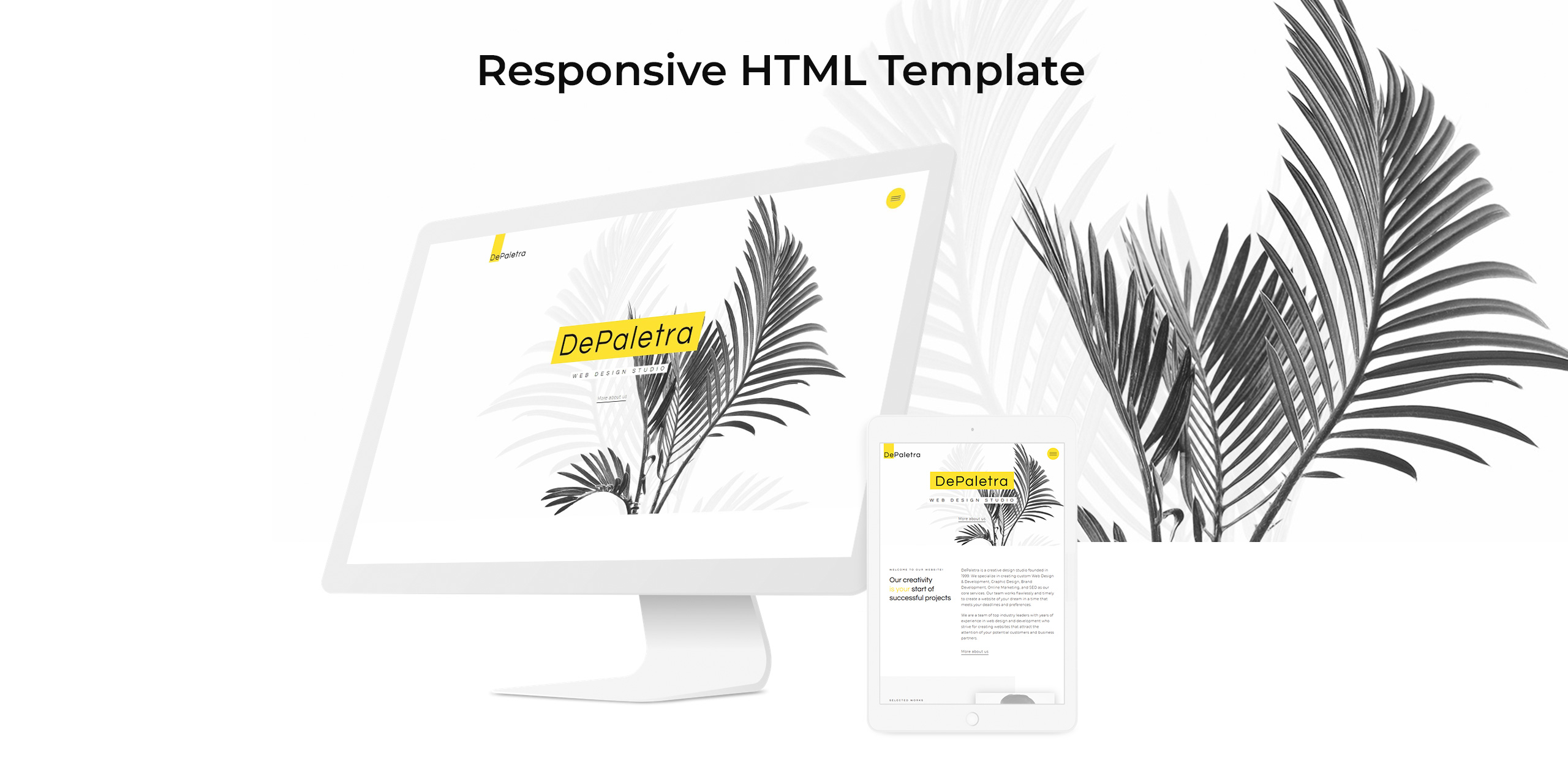 DePaletra Website Template