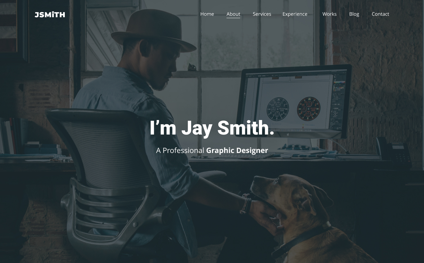 JSMiTH Fully Responsive Bootstrap 4 Personal Website Template