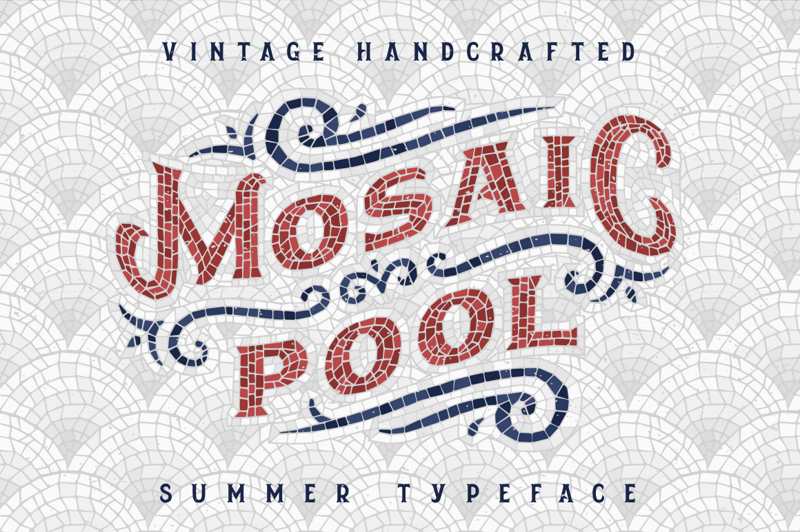 Mosaic Pool Typeface Fonts