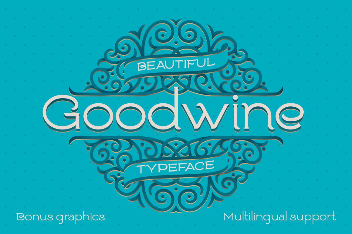 Goodwine Font, Label, Mockup Fonts